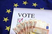 Euro vote flag — Stock Photo