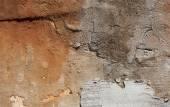 Antika texturerat muren av sten i Rom — Stockfoto