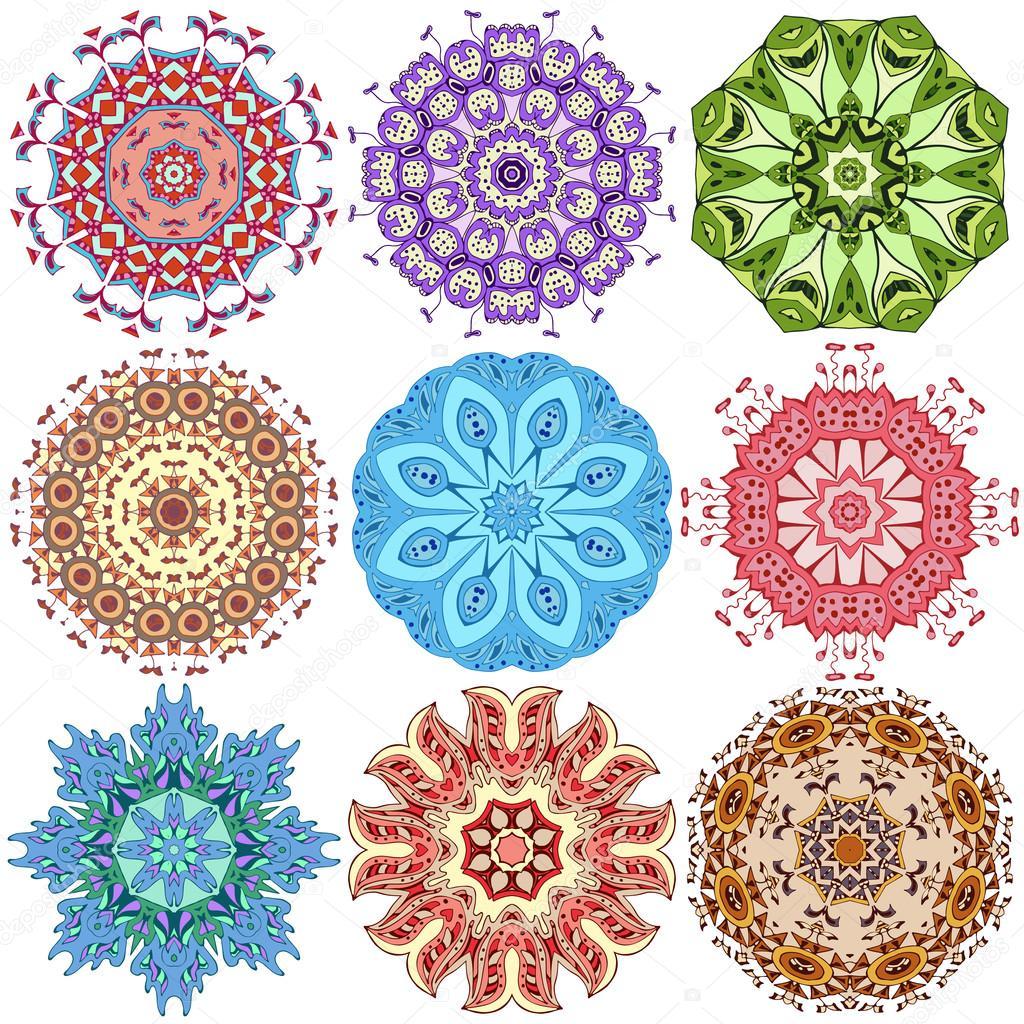Mandalas de colores vector de stock 80326548 - Colores para mandalas ...
