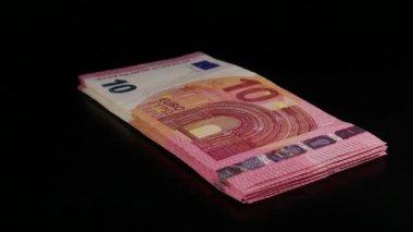 10 Euro faturaları dönüm yığını — Stok video