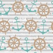 Seamless pattern with anchor — Stockvector