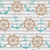 Seamless pattern with anchor — ストックベクタ