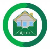 House Eco Creen Building Envelope — Stock Vector