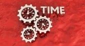 Clock gears, time concept. — Stock Photo