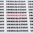 Text typed word Immigration — Stock Photo #72063317