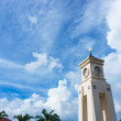Clock tower with big cloud — Stock Photo #73371173