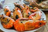 Gegrilde garnalen is heerlijke zeevruchten — Stockfoto