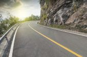 Winding road as background — Stock Photo