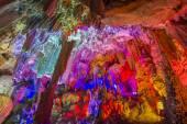 China caves, karst landforms. — Stock Photo