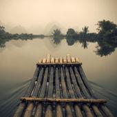 Bamboo rafting  in Yulong River — Photo