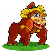 Gorilla king. — Stock Vector