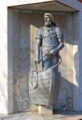"Sculptural composition ""Fisherman Raushen"" — Stock Photo"