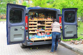 Smuggling, trafficking of Polish products — Stock Photo
