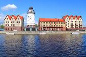 """Fish Village"" stylized under architecture of pre-war Konigsberg — Stock Photo"