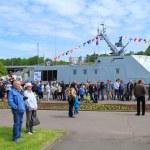 """Turn on the landing boat """"Lieutenant Rimsky-Korsakov"""" — Stock Photo #73390009"""