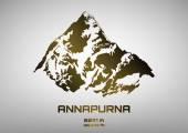 Outline vector illustration of bronze Mt. Annapurna — Stock Vector