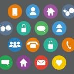 Set of basic flat design icons — Stock Vector #71981553