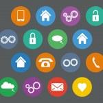 Set of basic flat design icons — Stock Vector #71981583