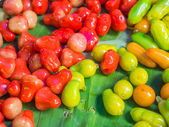 Deletable Imitation Fruits (kanom Luk Choup In Thai). — Stock Photo