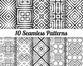 Set of 10 Abstract patterns — Stock Vector