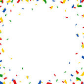 Greeting card with confetti — Stock Vector