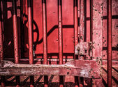 Old Red Caboose — Stock Photo