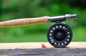 Flyfishing rod — Stock Photo