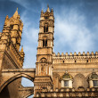 The tips of the Cathedral of Palermo — Stock Photo #72593633