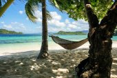 The hammock on Paradise island  — Stock Photo