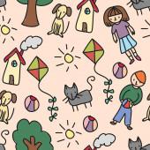 Kids Pattern — Stock Photo