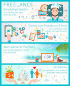 Advantages of becoming a freelancer. — Stock Vector