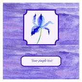 Iris watercolor illustration — Stock Vector