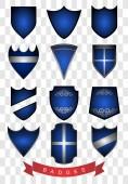 Blue Badges — Vector de stock