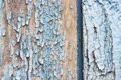 Old chapped blue wooden background — Stock Photo