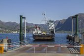 Hogsfjord  ferry — Stock Photo