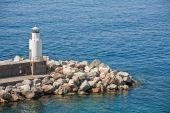 lighthouse of Camogli — Stock Photo