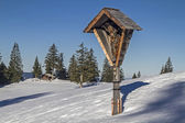 Wayside cross in the Tegernsee Alps — Stock Photo