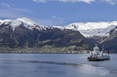 Ferry service Sognefjord — Stock fotografie