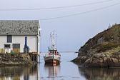 Норвежский рыбацкая лодка — Стоковое фото