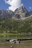 Lake Seeeben and Mieming mountains — Stock Photo