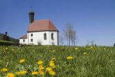 Pest chapel in flower meadow — Stock Photo