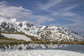 Sustenpass ucunda kış — Stok fotoğraf