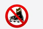 Prohibition sign for rollerbladers — Stock Photo