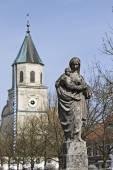 Klasztor wieś sondowania — Zdjęcie stockowe