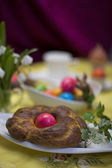 Table laid for Easter — Stock Photo