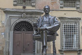 Puccini monument in Lucca — Stock Photo