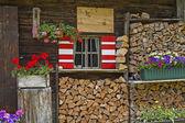Hut detail in Tyrol — Stock Photo