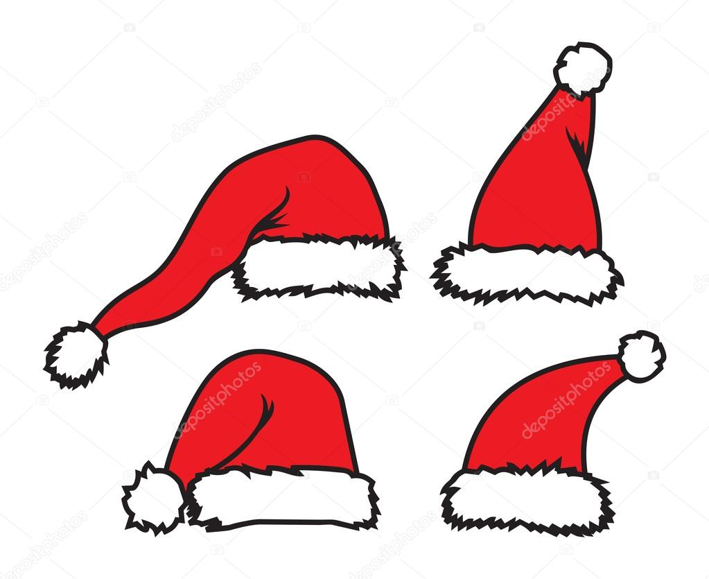 圣诞老人帽子 — 图库矢量图像08