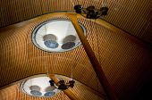Ceiling structure in Barajas airport — Stock Photo