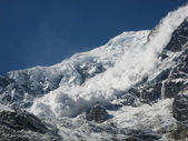Avalanche from Annapurna — Stock Photo